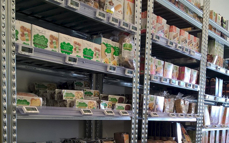 Rayonnage magasin alimentaire bio