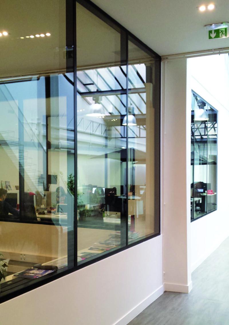 cloison vitr e bureau cloison modulaire 85 mm. Black Bedroom Furniture Sets. Home Design Ideas